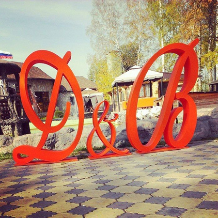 буквы на свадьбу из пвх